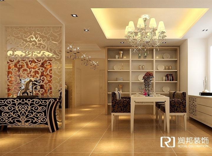 家具以现代欧式的为主,以暖色调为主,客厅的墙体向卧室内移动了15公分