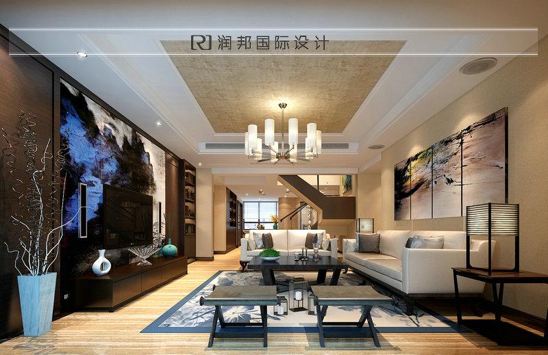 别墅装饰公司宏图上水庭院现代风格餐厅装修效果图