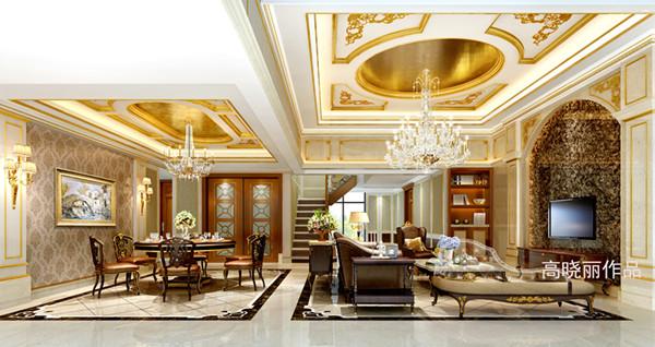 阳光聚宝山庄臻园220平方米欧式奢华风格装修效果图