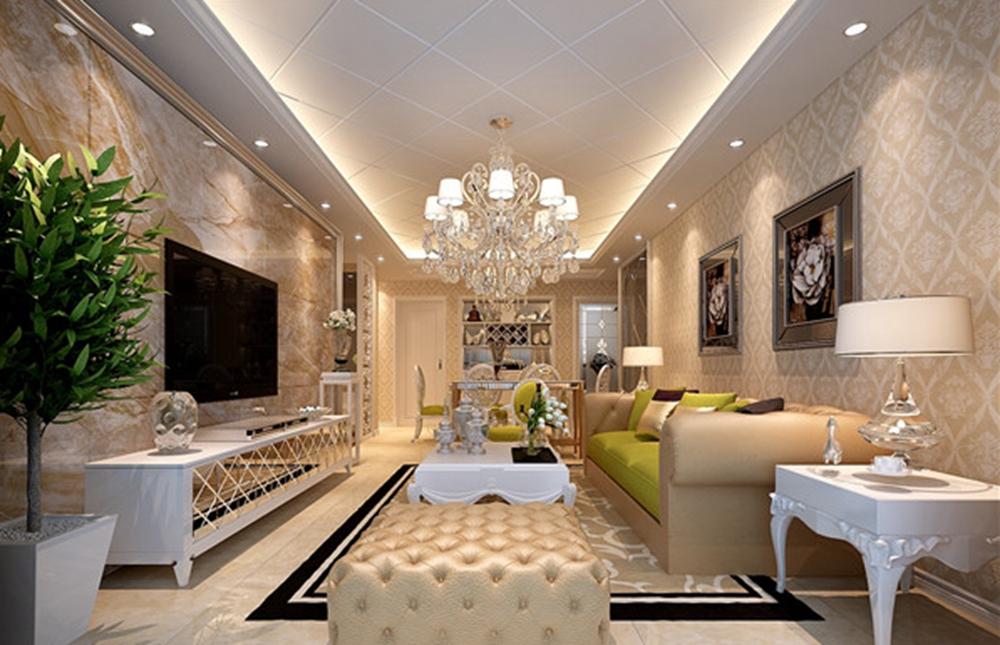 西堤国际150平方米四室两厅简欧风格装修效果图
