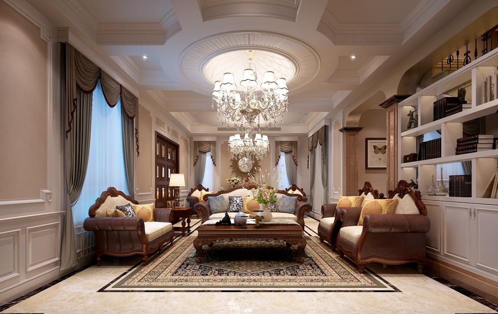 保利二十四院520平方米欧式风格别墅装修效果图