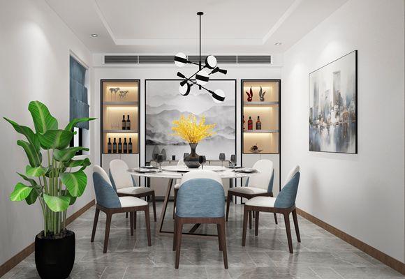 高德庄园350平方米现代简约风格联排别墅装修效果图