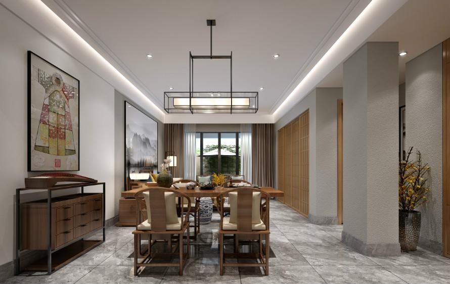 金鼎湾如院135平方米现代中式风格装修效果图
