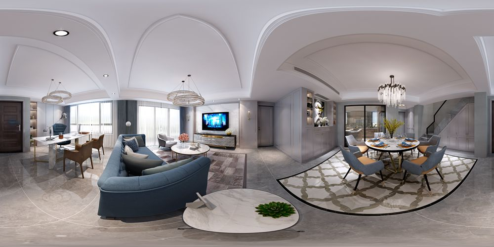 【润邦出品】鲁能七号院顶楼复式现代轻奢风格案例赏析